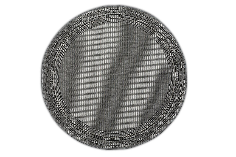 Dywan okrągły – szary – Harper Grey