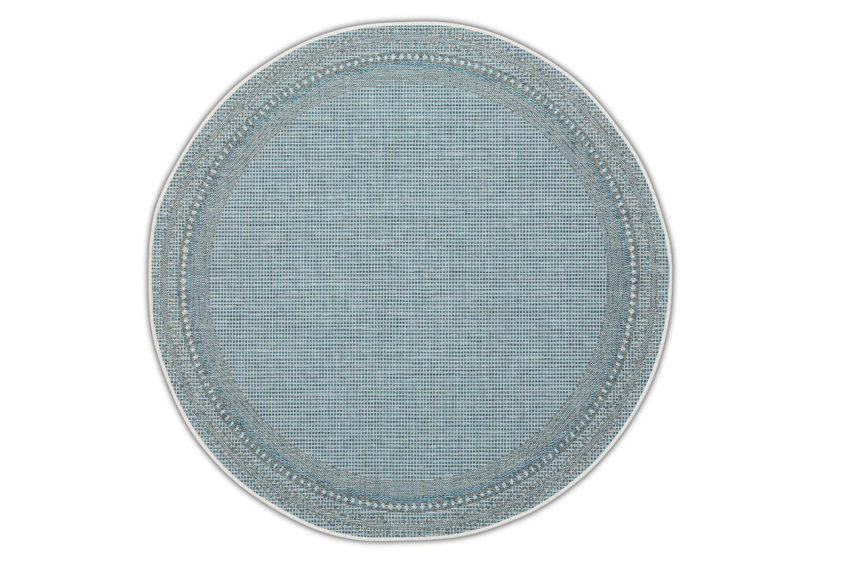 Dywan okrągły – niebieski – Harper Blue