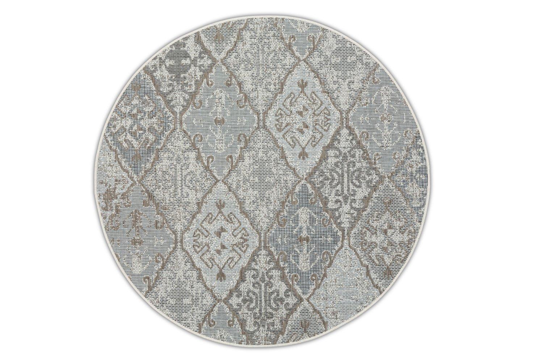 Okrągły dywan zewnętrzny – Brighton Grey – szary