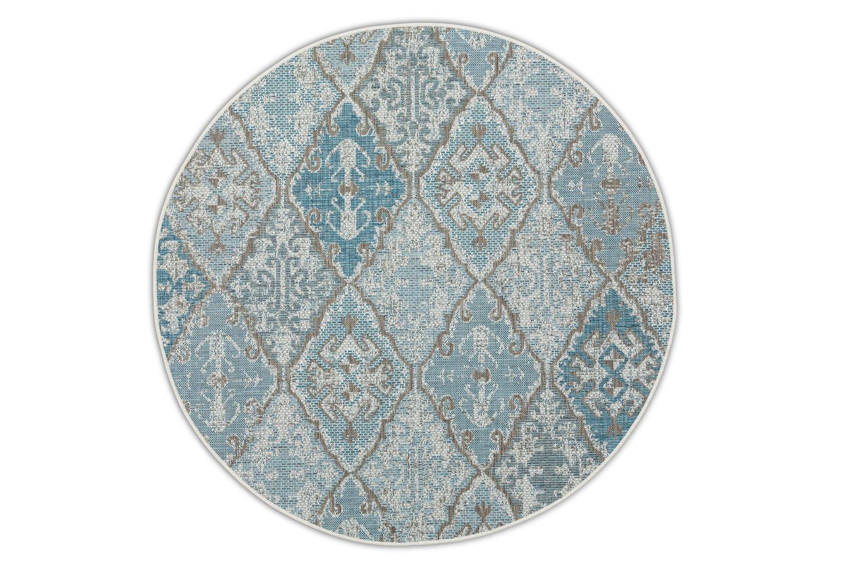 Okrągły dywan zewnętrzny – Brighton Blue – niebieski