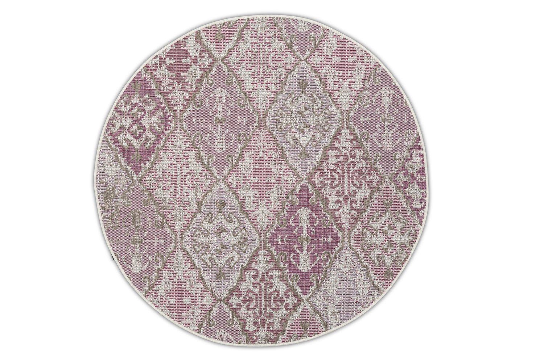Okrągły dywan zewnętrzny – Brighton Plum